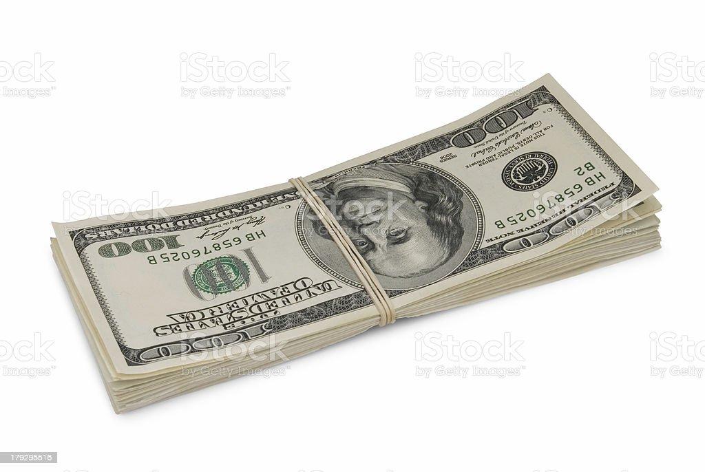 Pack of money stock photo