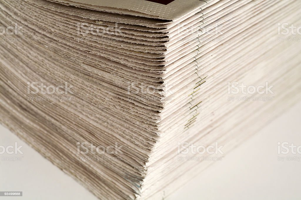 pack of newspapers royalty-free stock photo