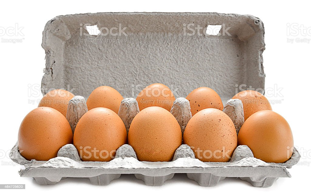 Pack of Organic Eggs stock photo