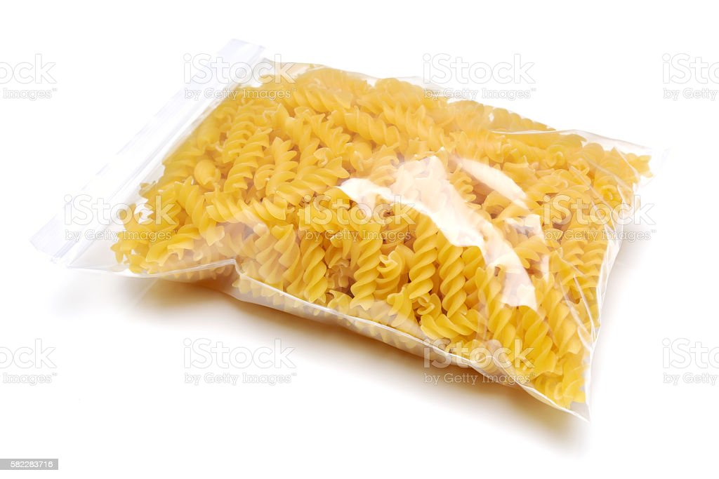 pack of pasta stock photo