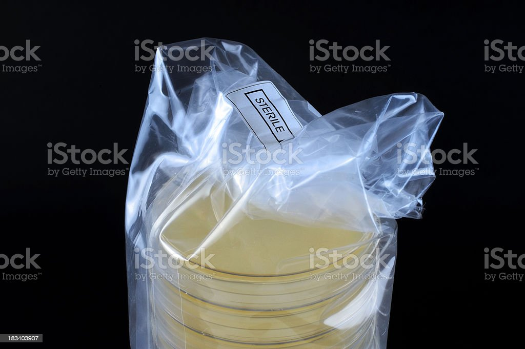 Pack of Petri dishes royalty-free stock photo