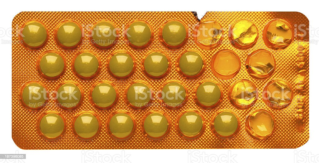 pack of pills on white background royalty-free stock photo