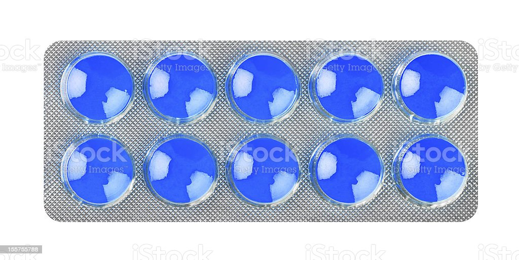 Pack of pills royalty-free stock photo