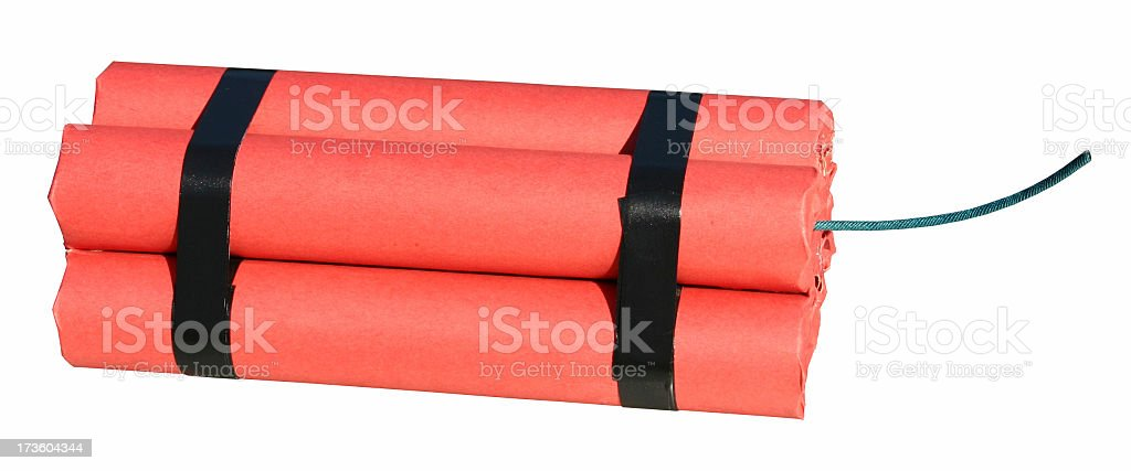 TNT Pack (clippipng path) royalty-free stock photo
