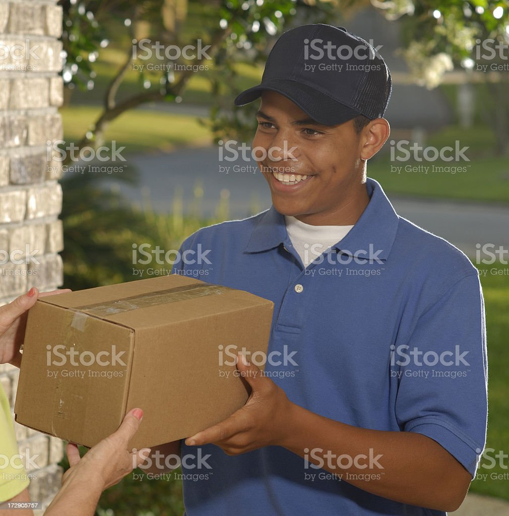 Package Delivery stock photo