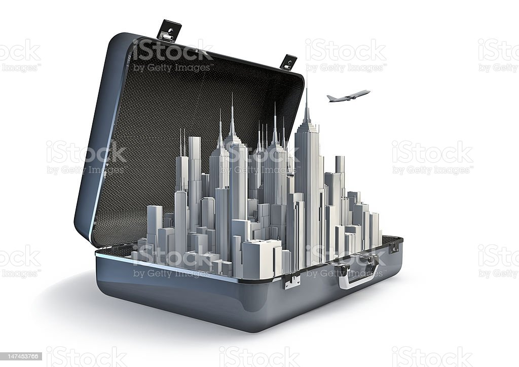 Package holiday city royalty-free stock photo