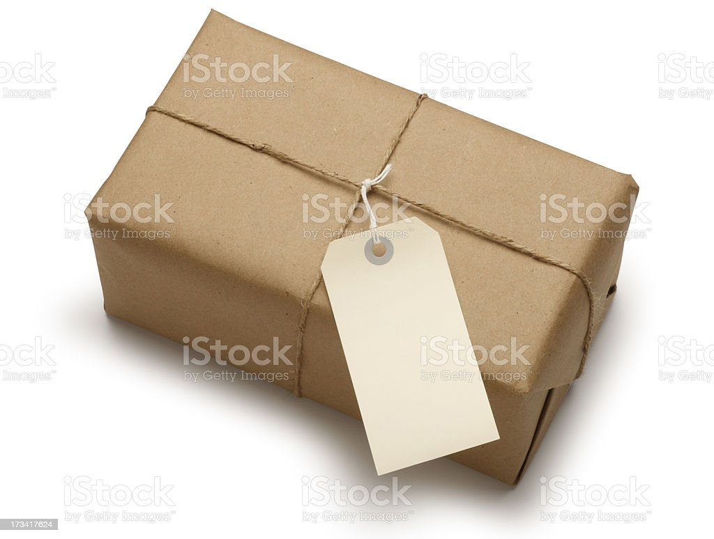 Package & Label stock photo