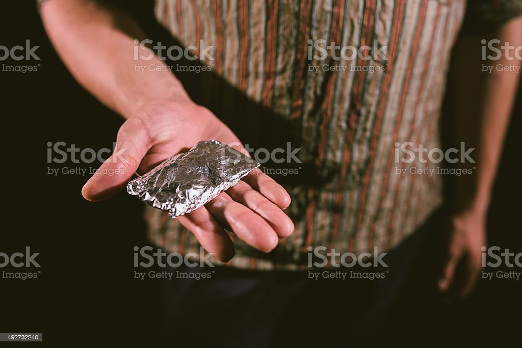 Package of cocaine stock photo