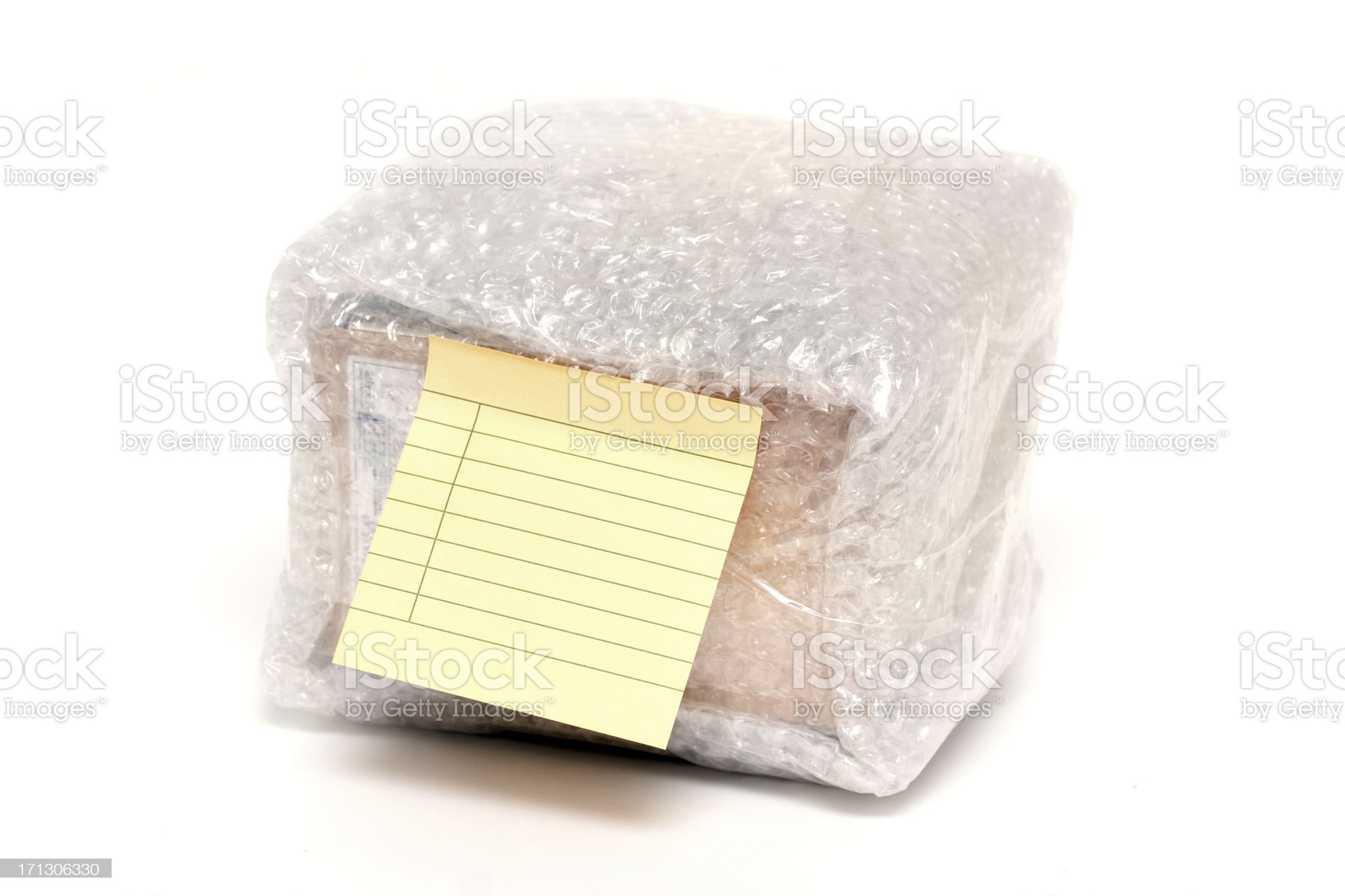 Package with blank label royalty-free stock photo