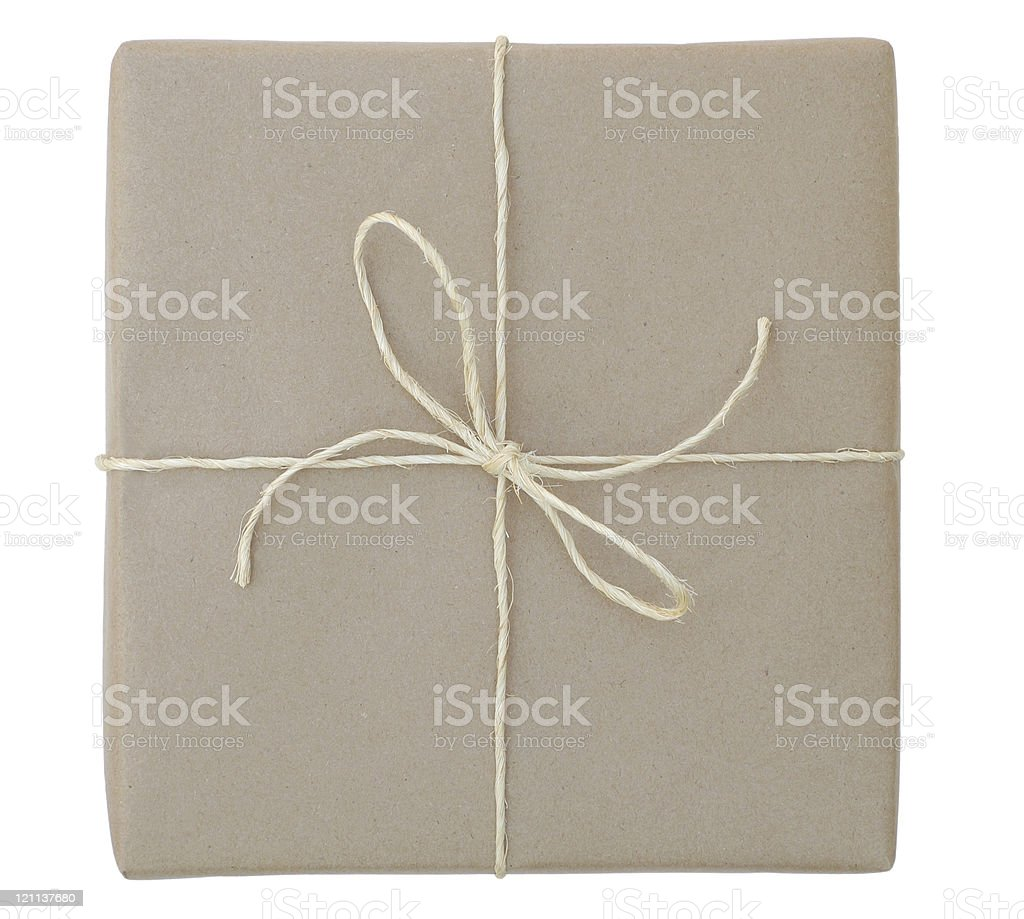Package with Sisal Twine royalty-free stock photo