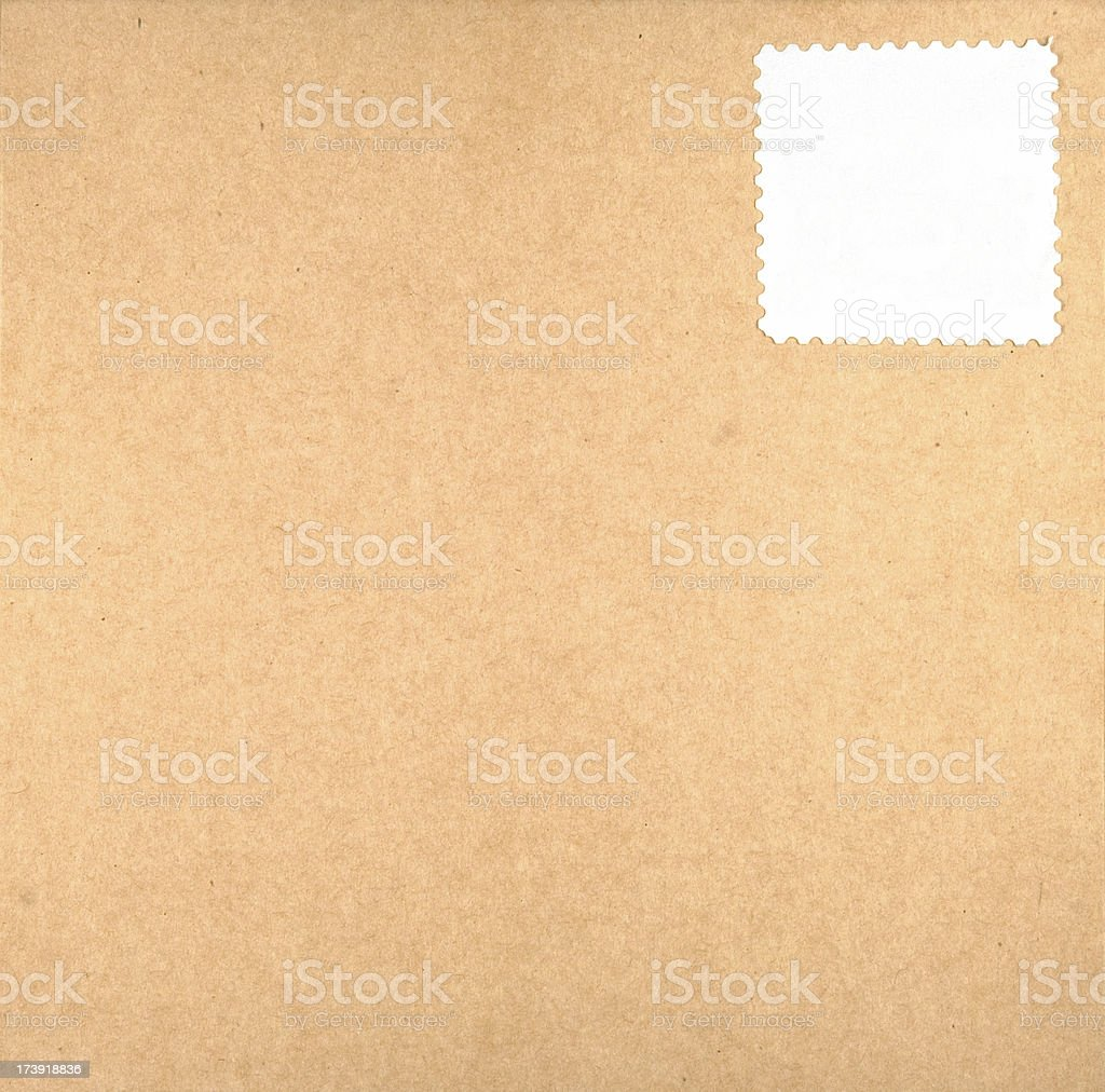 package with white stamp royalty-free stock photo