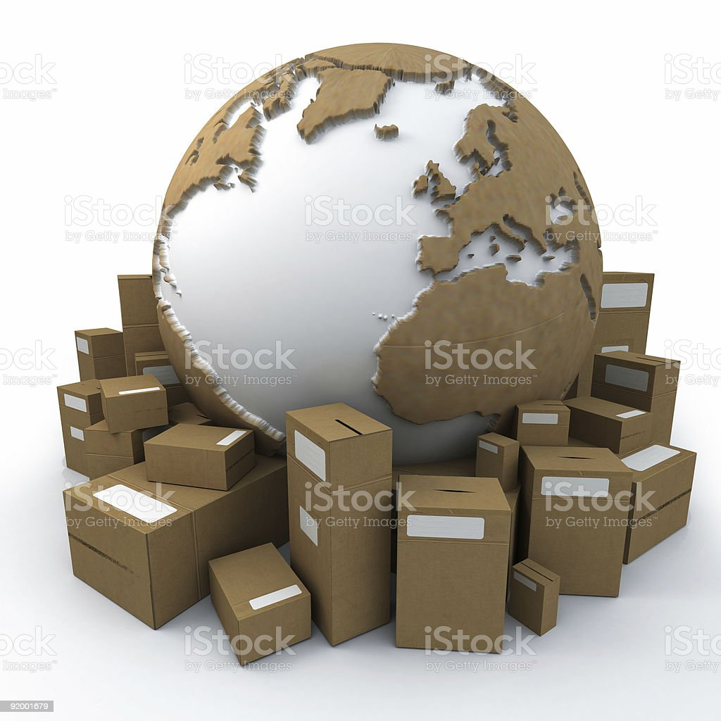 packaged world royalty-free stock photo
