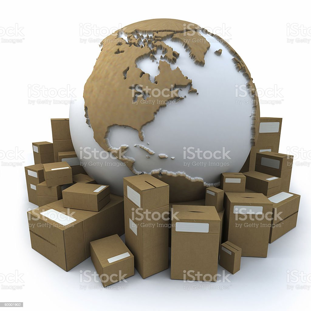 packaged world3 royalty-free stock photo