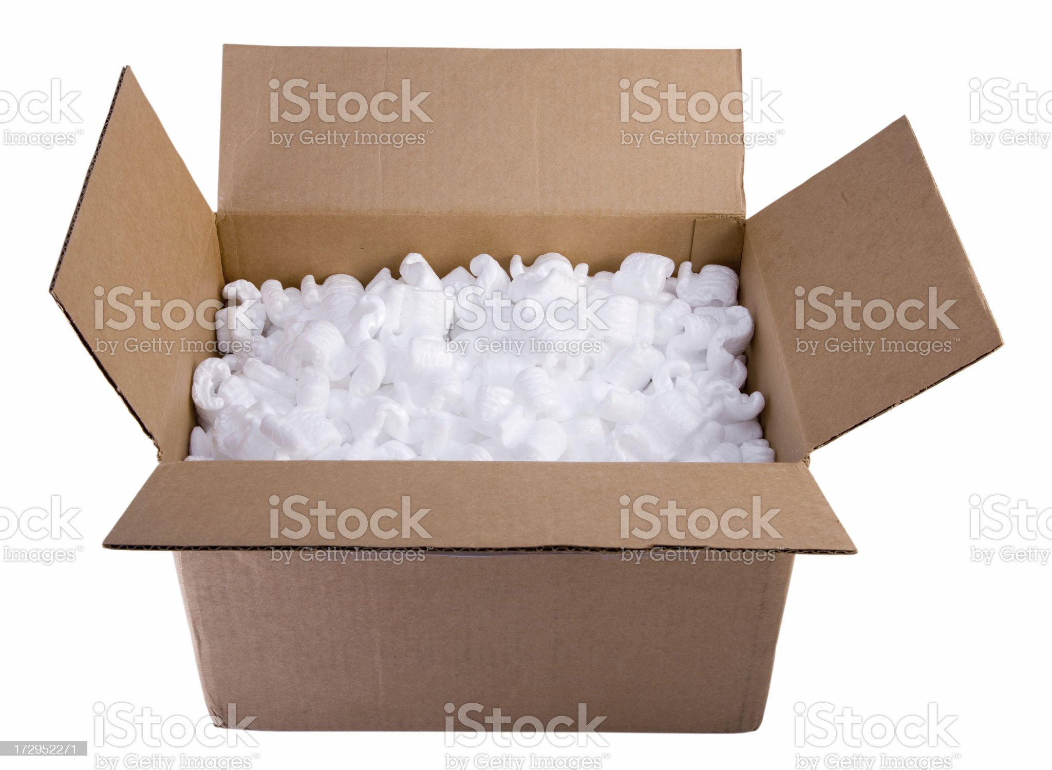 Packaging  Box and Protective Foam royalty-free stock photo
