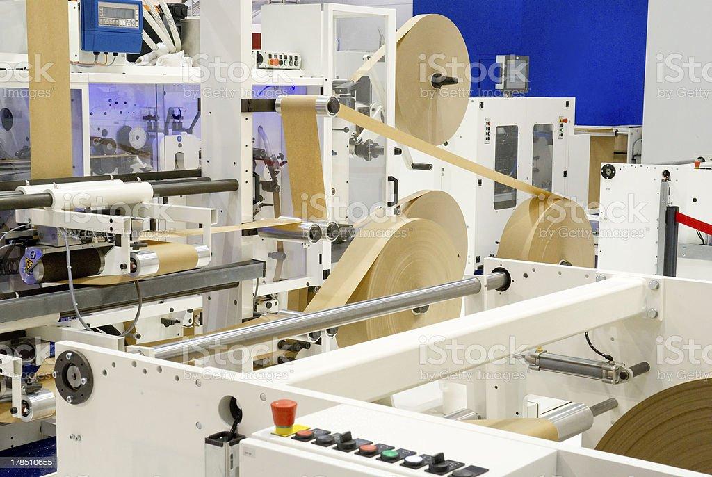 Packaging machine stock photo