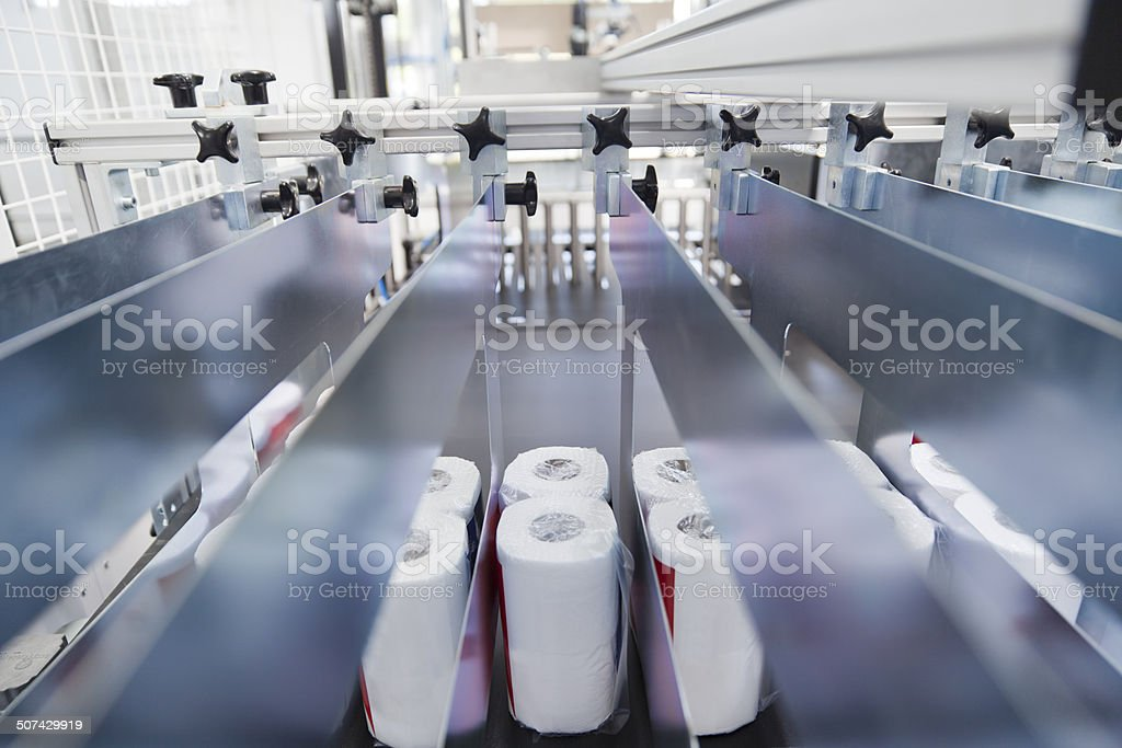 Packaging machine stock photo