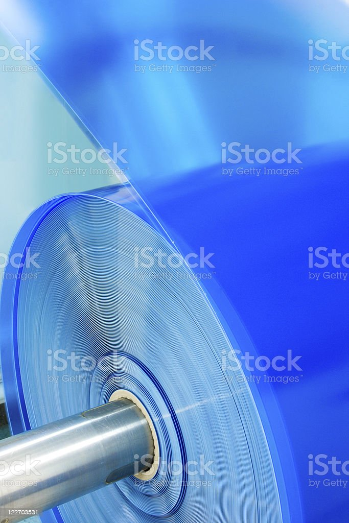 packaging machine plastic hank close-up royalty-free stock photo