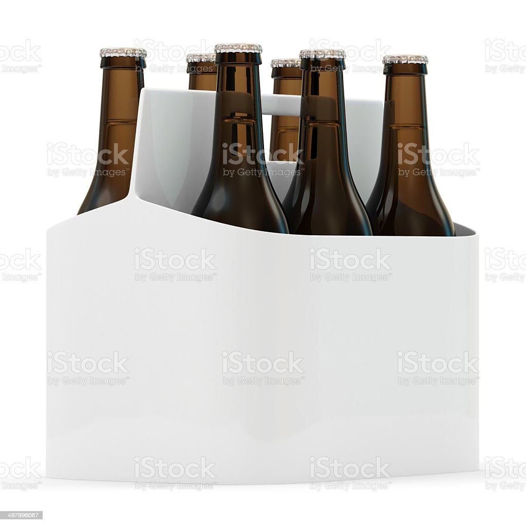 Packaging of Beer isolated on white background stock photo