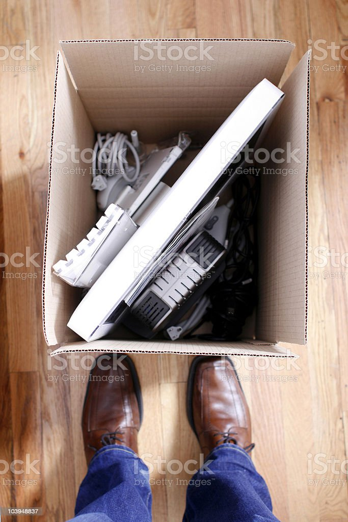 Packed Box - Concept for Moving, Storage or Unemployment royalty-free stock photo