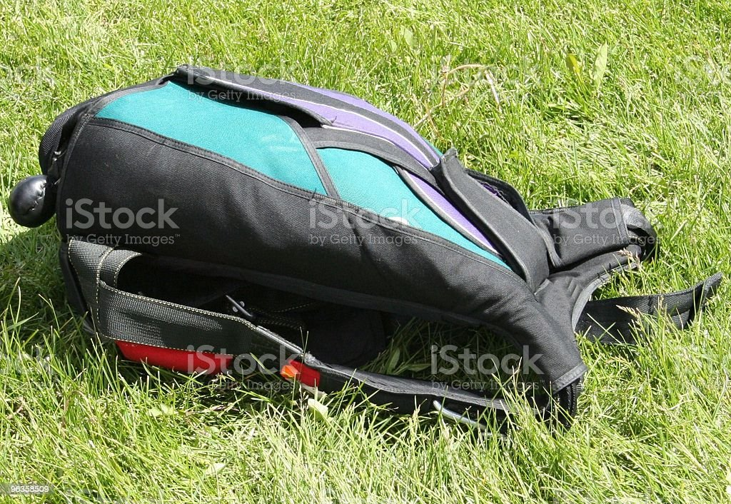 packed parachute stock photo