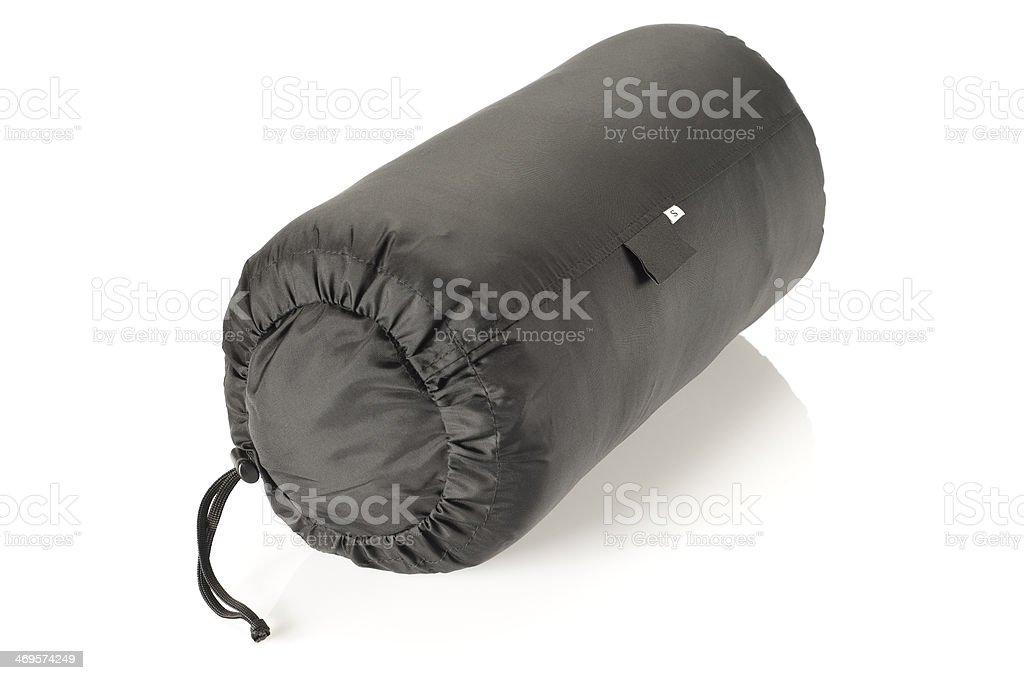 Packed sleeping bag. stock photo