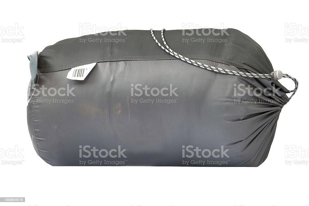 packed sleeping-bag stock photo