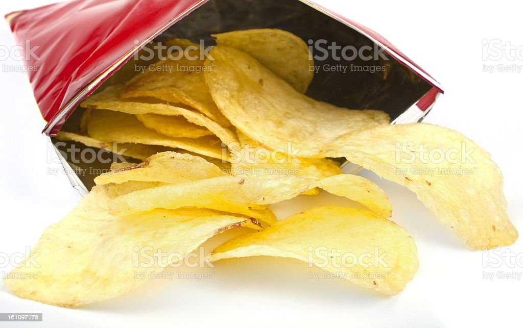 Packet of Crisps royalty-free stock photo