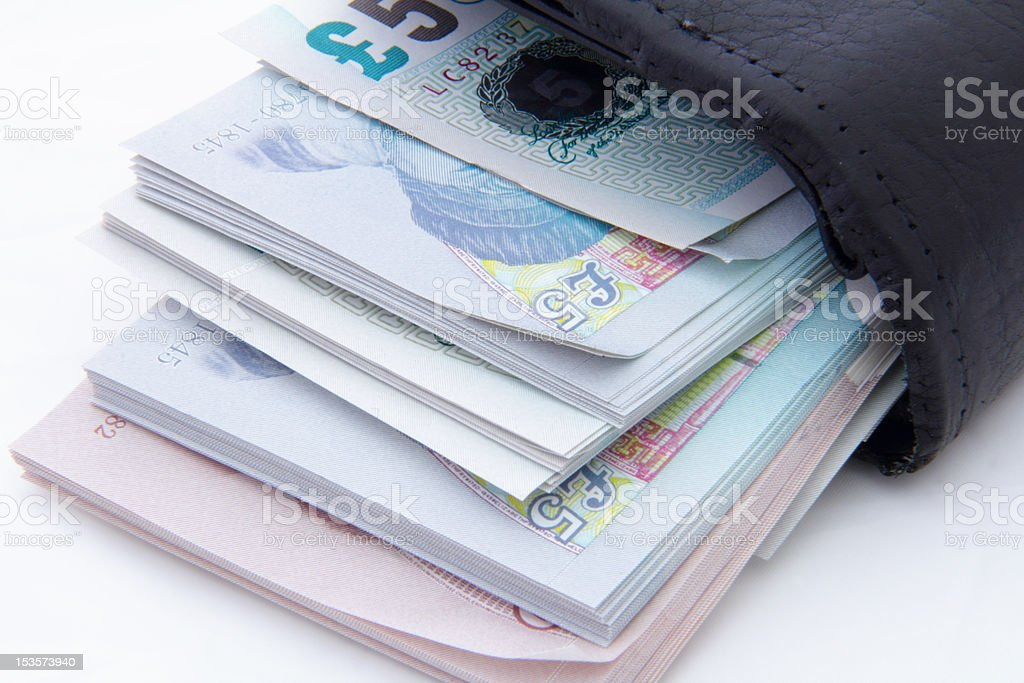 packet of money stock photo