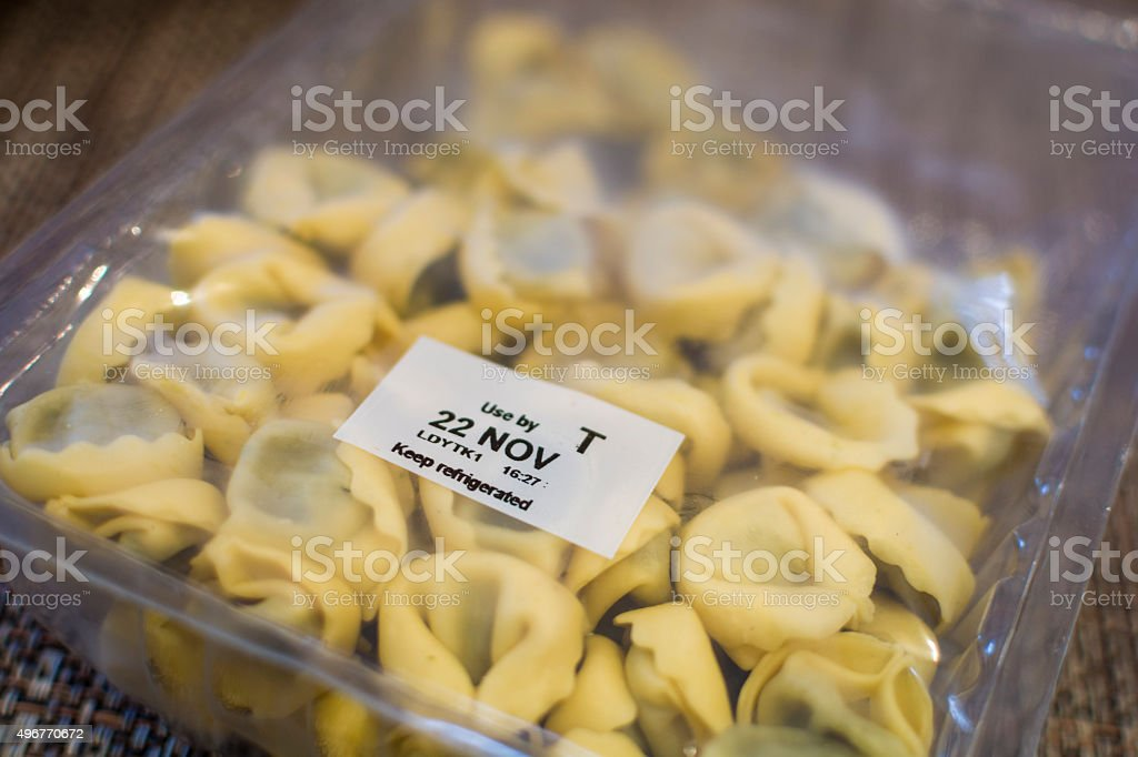 Packet of Pasta stock photo