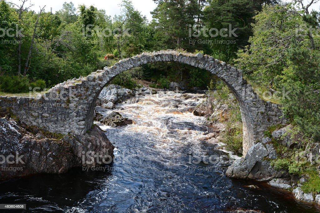 Packhorse Bridge Carrbridge – Blurred Water stock photo