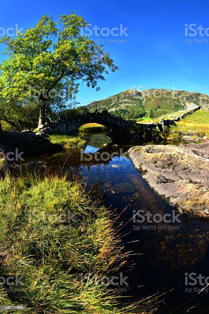 Packhorse Bridge in Little Langdale stock photo