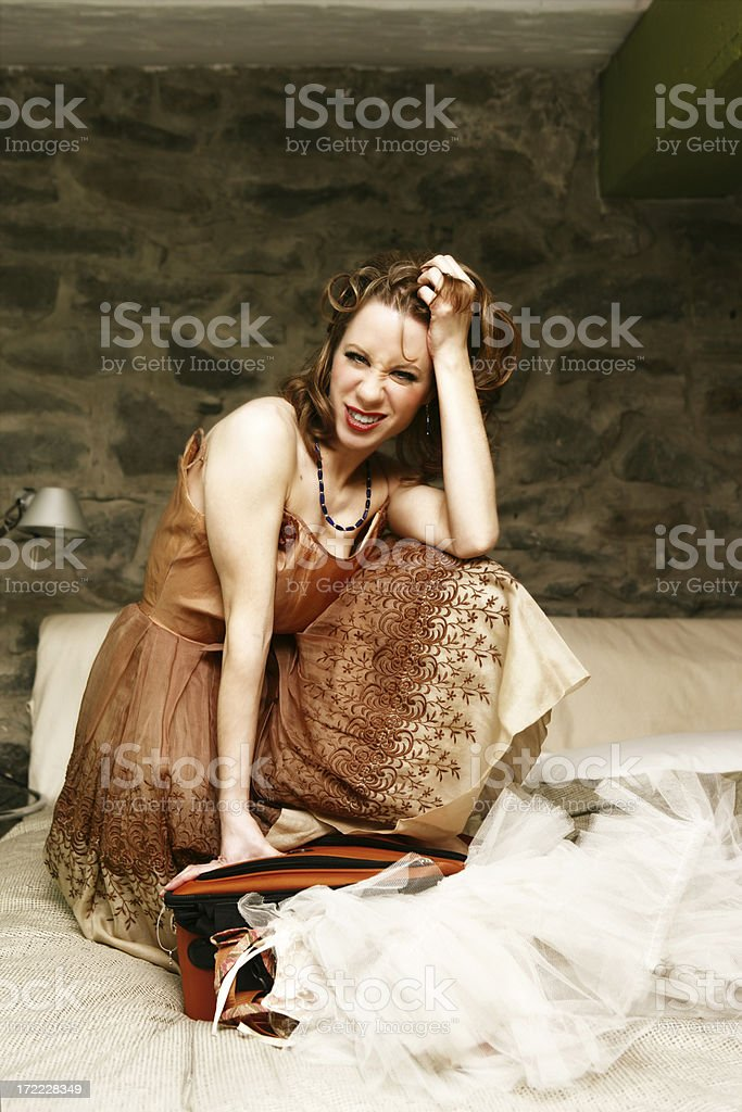 Packing and discouraged stock photo