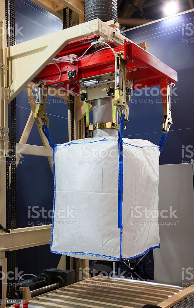 Packing big bags stock photo