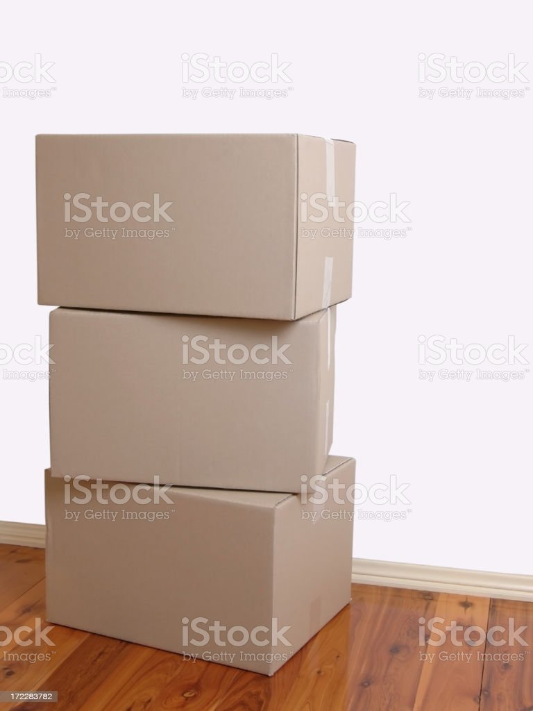 Packing boxes royalty-free stock photo