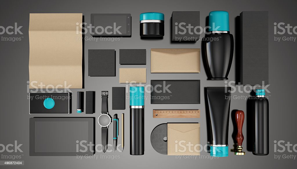 Packing for cosmetic stock photo