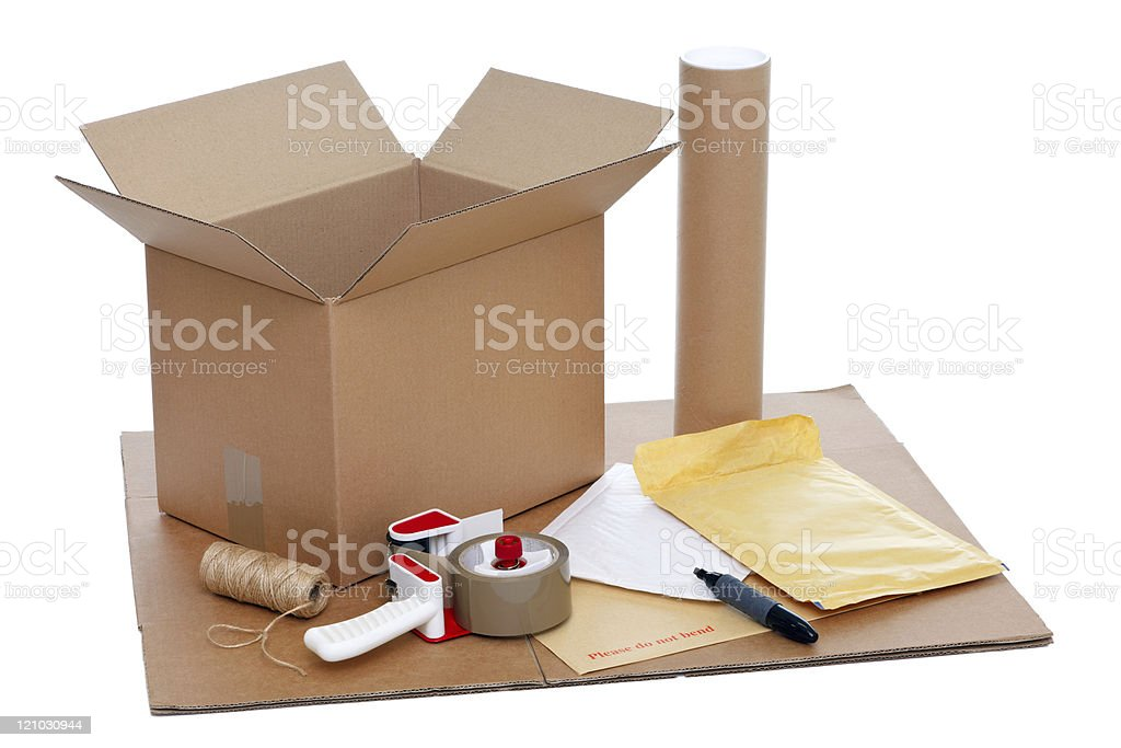 Packing items royalty-free stock photo