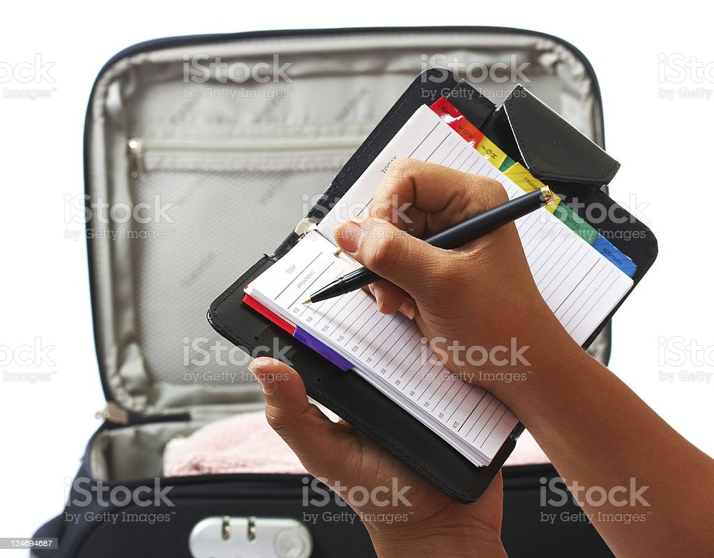 Packing List For Vacation Or Trip stock photo
