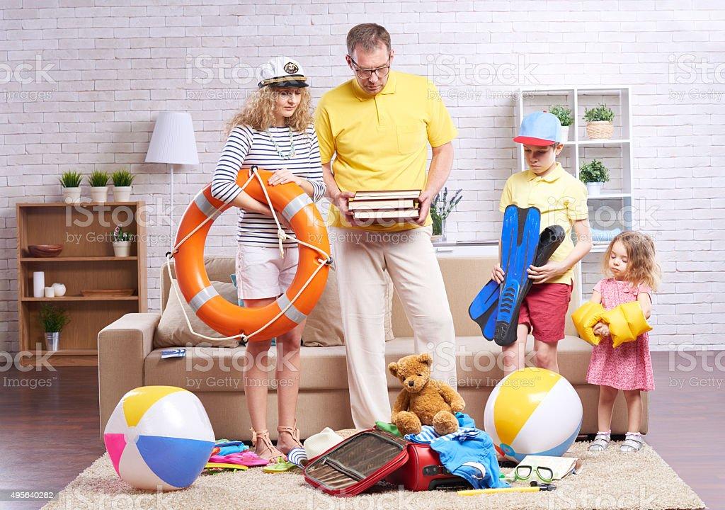 Packing panic stock photo