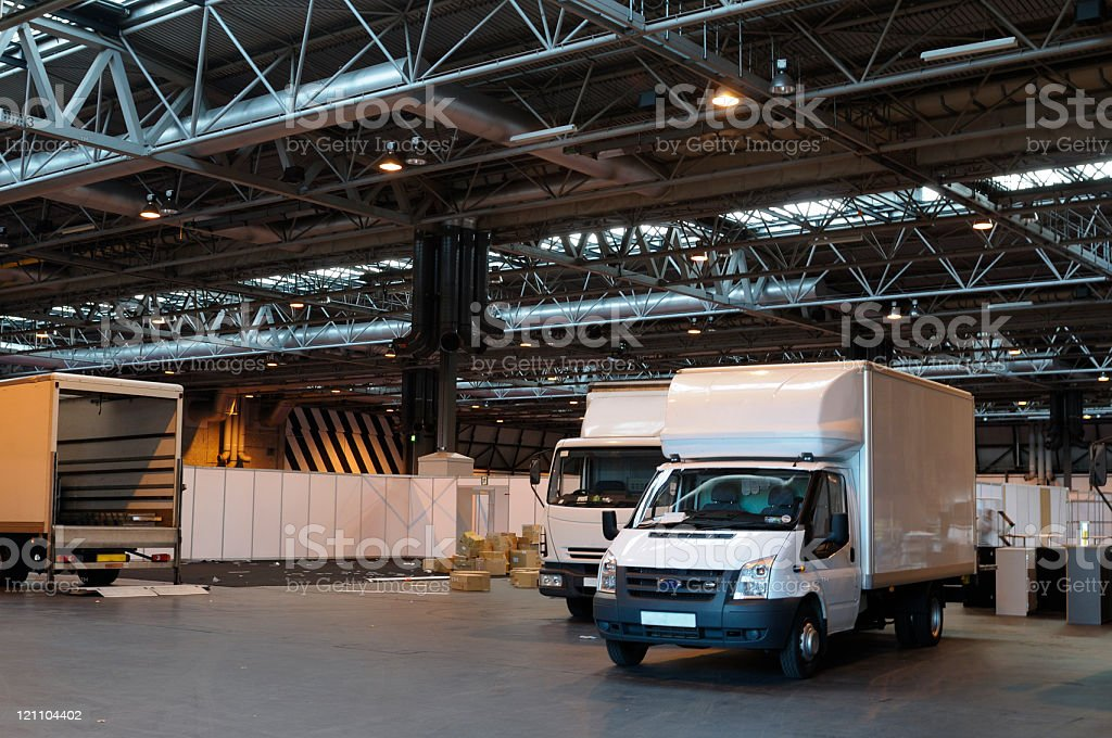 Packing Up After an Exhibition royalty-free stock photo