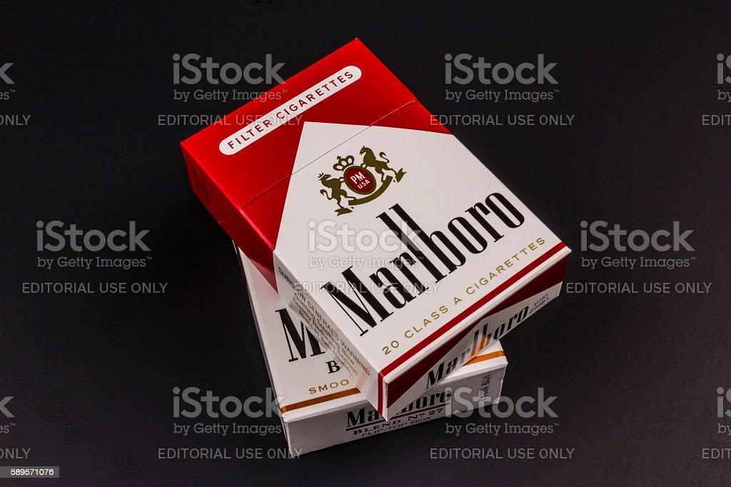 Packs of Marlboro Cigarettes II stock photo