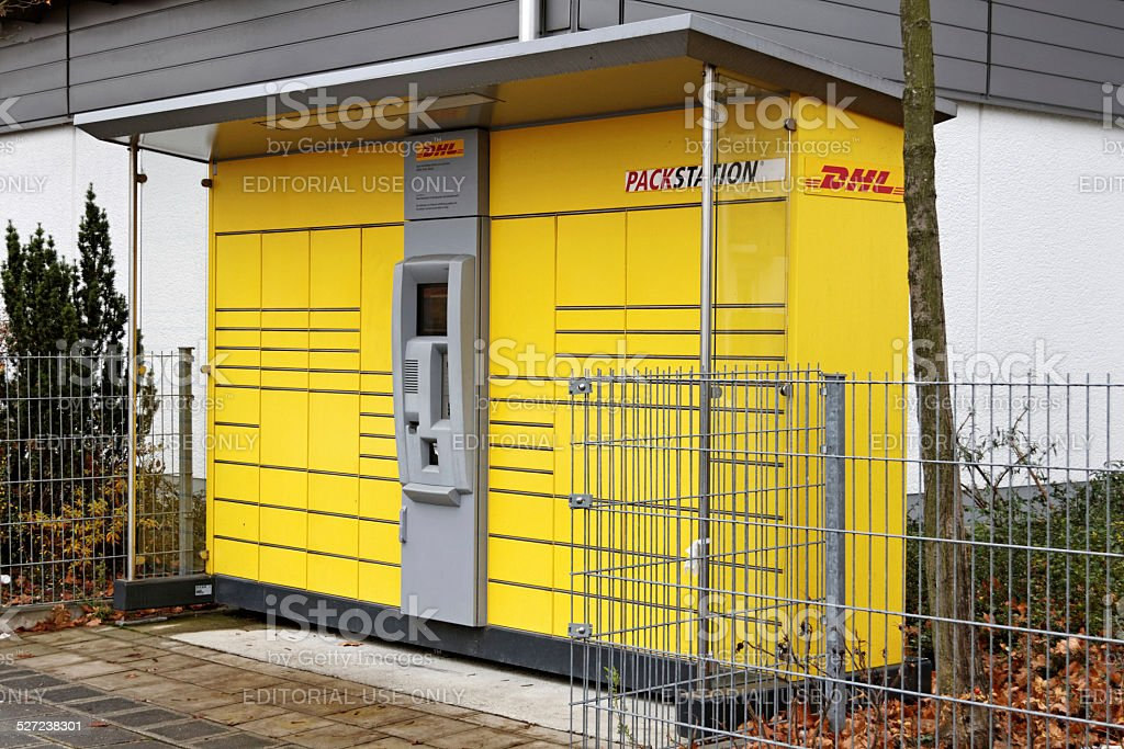 DHL Packstation in Germany stock photo