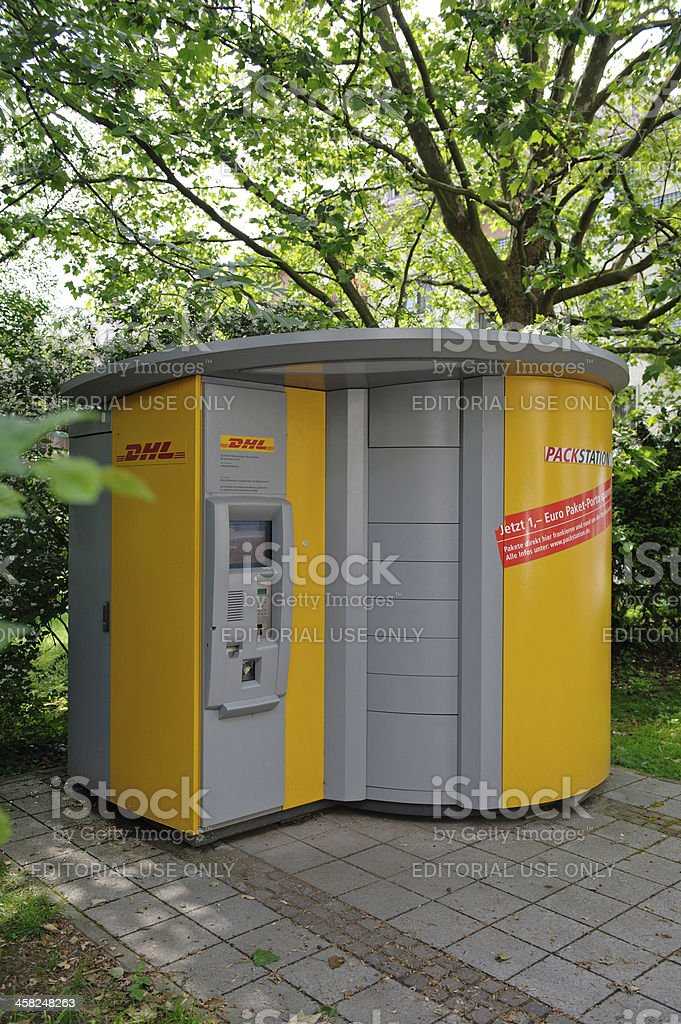 DHL Packstation royalty-free stock photo