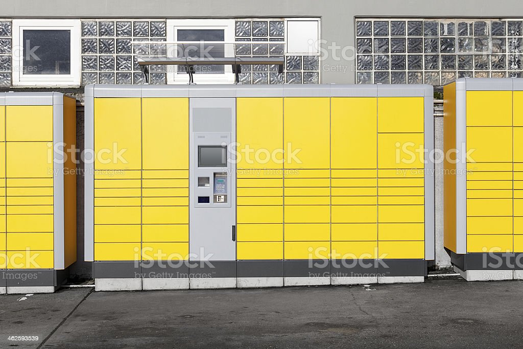 Packstation stock photo