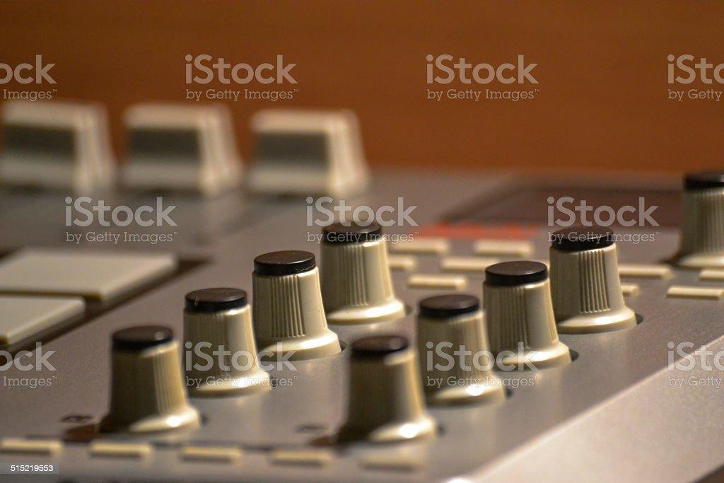 pad drum machine Closeup stock photo