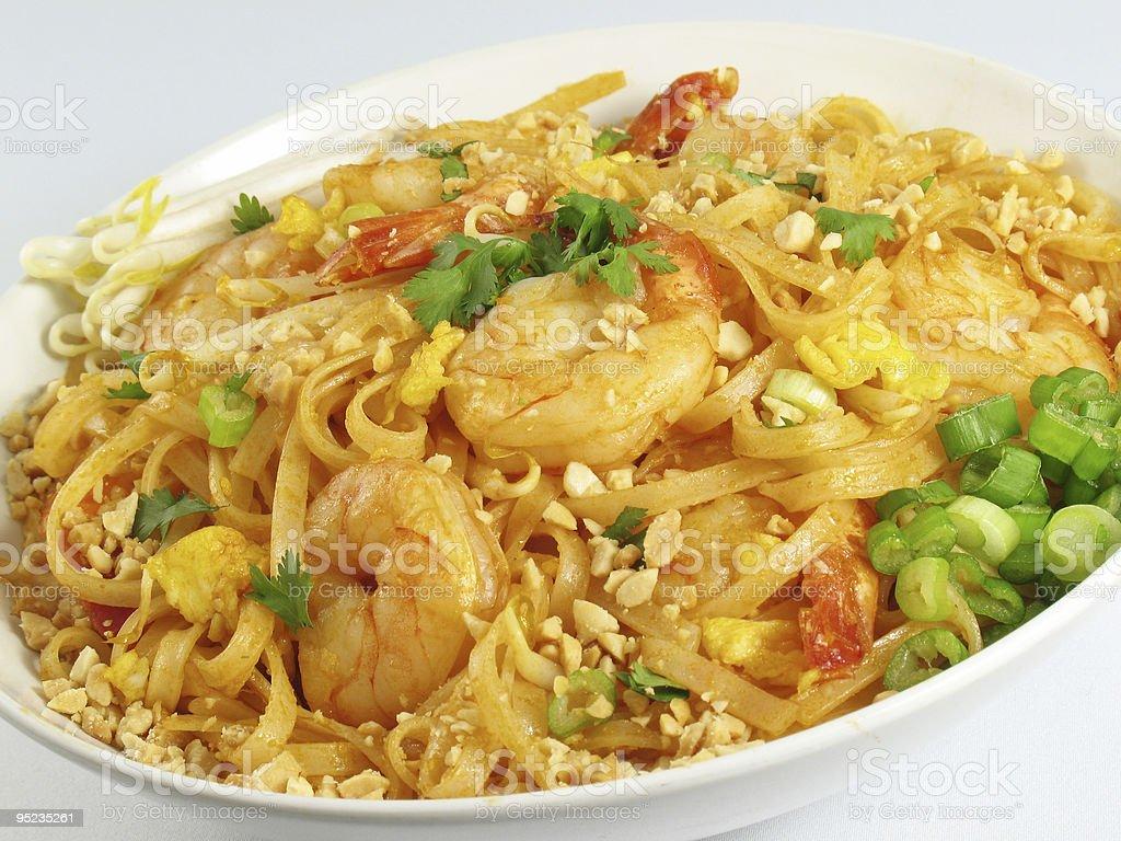 Pad Thai and Shrimp royalty-free stock photo