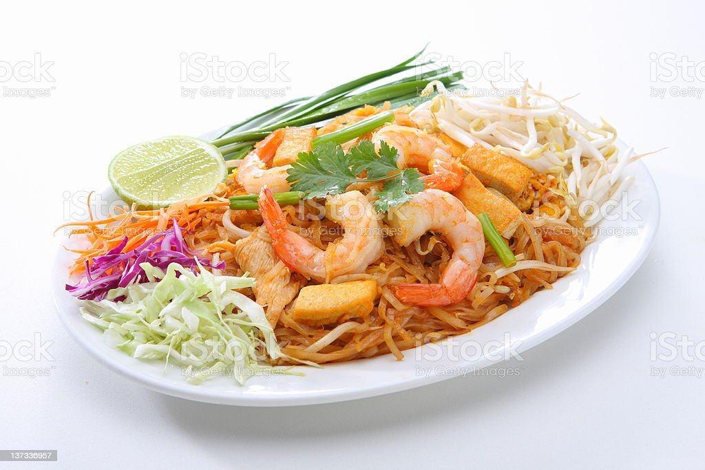Pad Thai Asian Food royalty-free stock photo
