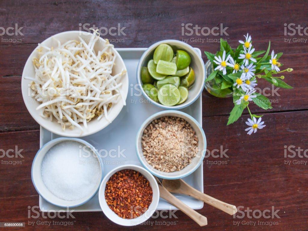 Pad Thai ingredient stock photo