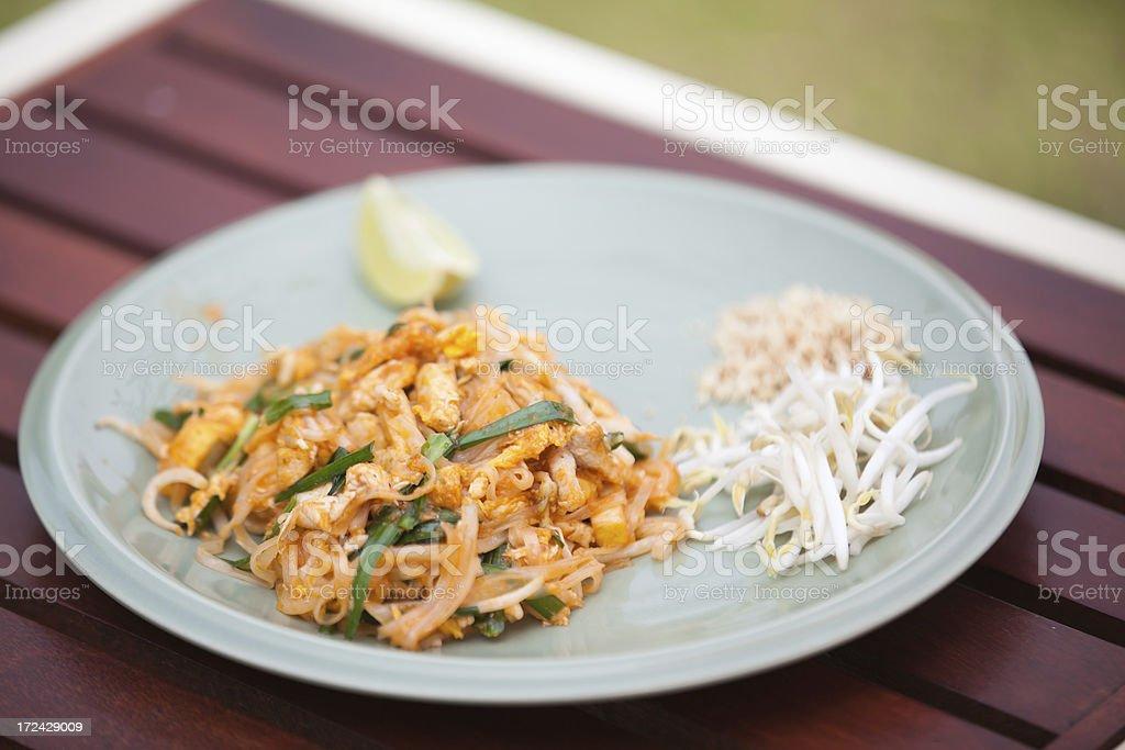 Pad Thai Noodles royalty-free stock photo