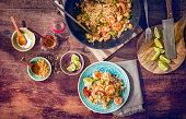 Pad Thai Noodles with Prawns