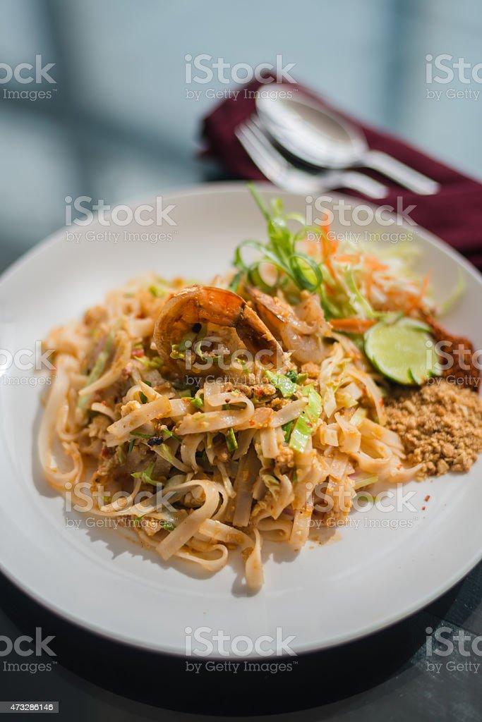 Pad thai recipe stock photo
